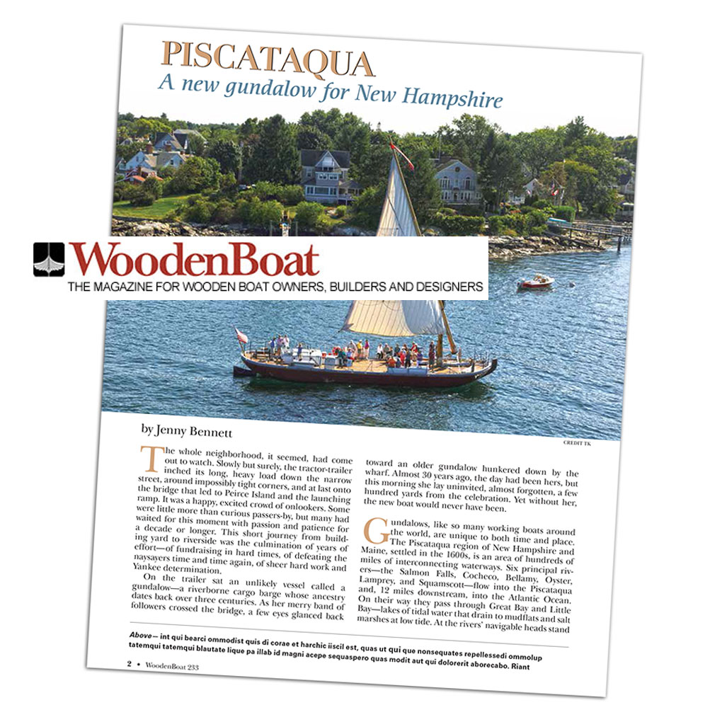WoodenBoat Magazine Gundalow