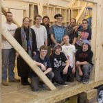 Portsmouth HS Architecture Class builds tool shed for the new gundalow