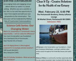 Science Cafe: Creative Solutions to Water Pollution in the Piscataqua Estuary