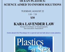 Special Tuesday Night Speaker: Ocean Plastics: Science Aimed to Inform Solutions